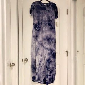 LulaRoe NWT Small Tie Dye Navy Maria Dress